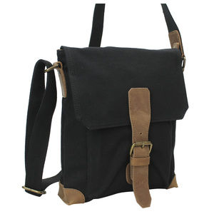 Cotton Canvas Distress Shoulder Bag CS13BLK